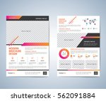 Business brochure flyer design layout template. Business brochure, leaflet, flyer, magazine cover design template vector.layout education annual report A4 size.