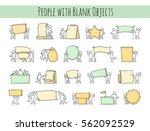 cartoon set of little people... | Shutterstock .eps vector #562092529