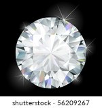 shiny bright diamond | Shutterstock .eps vector #56209267