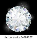 shiny bright diamond | Shutterstock .eps vector #56209267