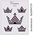 stylized drawings of crowns  a... | Shutterstock .eps vector #562094719