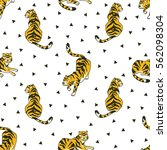 vector seamless pattern with... | Shutterstock .eps vector #562098304