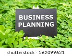 """business planning "" words... | Shutterstock . vector #562099621"