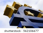 close up of euro sign sculpture ... | Shutterstock . vector #562106677