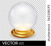 empty crystal ball with golden... | Shutterstock .eps vector #562108195