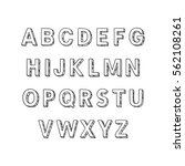vector alphabet  uppercase tree ... | Shutterstock .eps vector #562108261