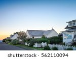 small town america houses with... | Shutterstock . vector #562110094