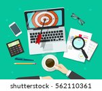 successful business target... | Shutterstock .eps vector #562110361