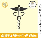 caduceus medical symbol | Shutterstock .eps vector #562115395