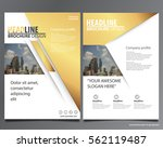 golden abstract annual report... | Shutterstock .eps vector #562119487