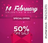 valentines day sale. background ... | Shutterstock .eps vector #562121251