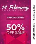 poster valentines day sale.... | Shutterstock .eps vector #562121269