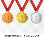 set of gold  silver and bronze... | Shutterstock .eps vector #562123645