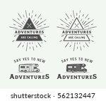 set of vintage camping outdoor...   Shutterstock .eps vector #562132447