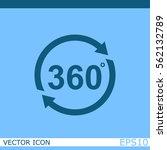 angle 360 degrees vector icon | Shutterstock .eps vector #562132789