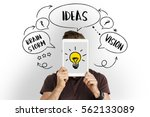 fresh ideas creative innovation ... | Shutterstock . vector #562133089