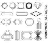 black art deco vector frames set | Shutterstock .eps vector #562133761