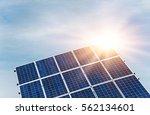 solar panel  photovoltaic ... | Shutterstock . vector #562134601