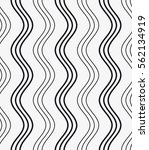 Vector seamless pattern. Modern stylish texture with wavy stripes. Geometric abstract background.    Shutterstock vector #562134919