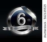 celebrating 6th years... | Shutterstock .eps vector #562135525