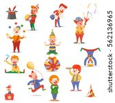 circus clowns cute funny... | Shutterstock .eps vector #562136965