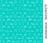 shabbat symbols seamless...   Shutterstock .eps vector #562139275