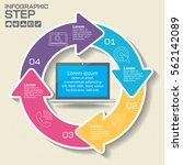 infographics design template... | Shutterstock .eps vector #562142089