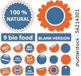 9 bio   eco stickers. vector | Shutterstock .eps vector #56214301