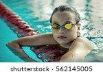 swimmer child. portrait of...   Shutterstock . vector #562145005