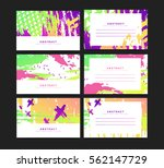 set of horizontal artistic... | Shutterstock .eps vector #562147729