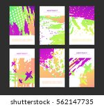 set of vertical artistic... | Shutterstock .eps vector #562147735