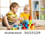 children toddler and... | Shutterstock . vector #562151239
