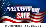 presidents' day sale banner... | Shutterstock .eps vector #562151731
