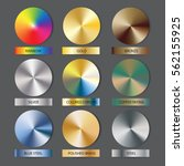 round cone metal gradients set. ... | Shutterstock .eps vector #562155925