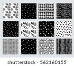 vector set of hand drawn... | Shutterstock .eps vector #562160155