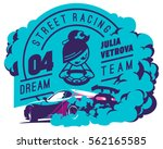 burnout car  japanese drift... | Shutterstock .eps vector #562165585