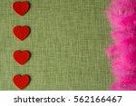 felt heart and dyed bird... | Shutterstock . vector #562166467