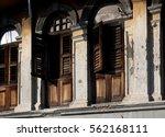 rustic old derelict charming... | Shutterstock . vector #562168111