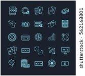 outline icons vector set  ... | Shutterstock .eps vector #562168801