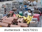 Small photo of Construction Materials in construction work Construction zone