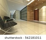 3d rendering empty lobby... | Shutterstock . vector #562181011