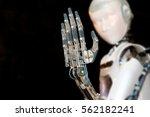 robot giving his hand | Shutterstock . vector #562182241