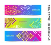 bright colorful horizontal...   Shutterstock .eps vector #562187581