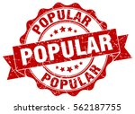 popular. stamp. sticker. seal.... | Shutterstock .eps vector #562187755