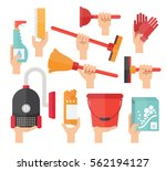 cleaning service supplies.... | Shutterstock .eps vector #562194127