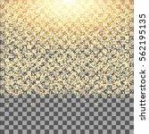 gold glow glitter sparkles on... | Shutterstock .eps vector #562195135