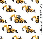 seamless pattern with tractor...