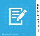pencil and note icon | Shutterstock .eps vector #562195759