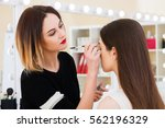 beauty salon  the girl dklayut... | Shutterstock . vector #562196329