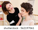 beauty salon  the girl dklayut... | Shutterstock . vector #562197061
